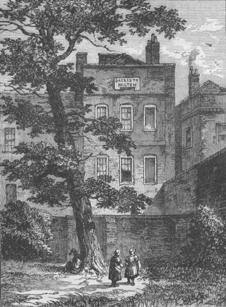 Associate Product WESTMINSTER. Milton's House (from a drawing by F. W. Archer). London c1880