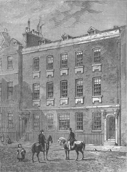 Associate Product WESTMINSTER. Colonel Blood's House. London c1880 old antique print picture