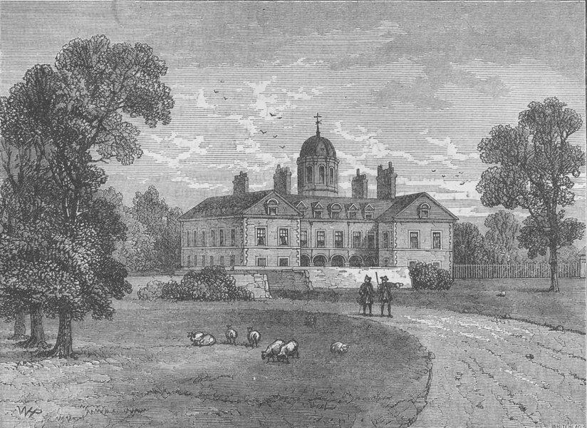 Associate Product BUCKINGHAM PALACE. Arlington House, 1700. London c1880 old antique print