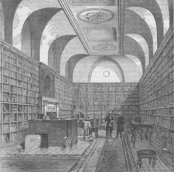 Associate Product BUCKINGHAM PALACE. The King's library, Buckingham House, 1775. London c1880