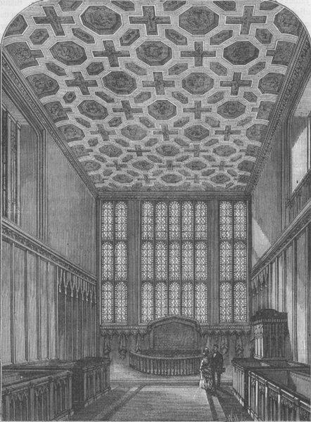Associate Product ST.JAMES'S PALACE. Chapel Royal, St.James's. London c1880 old antique print