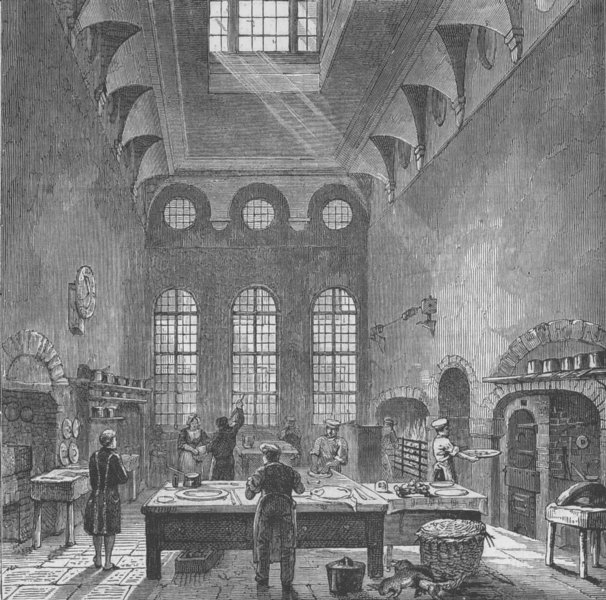 Associate Product ST.JAMES'S PALACE. Kitchen of St.James's Palace, in time of George III c1880