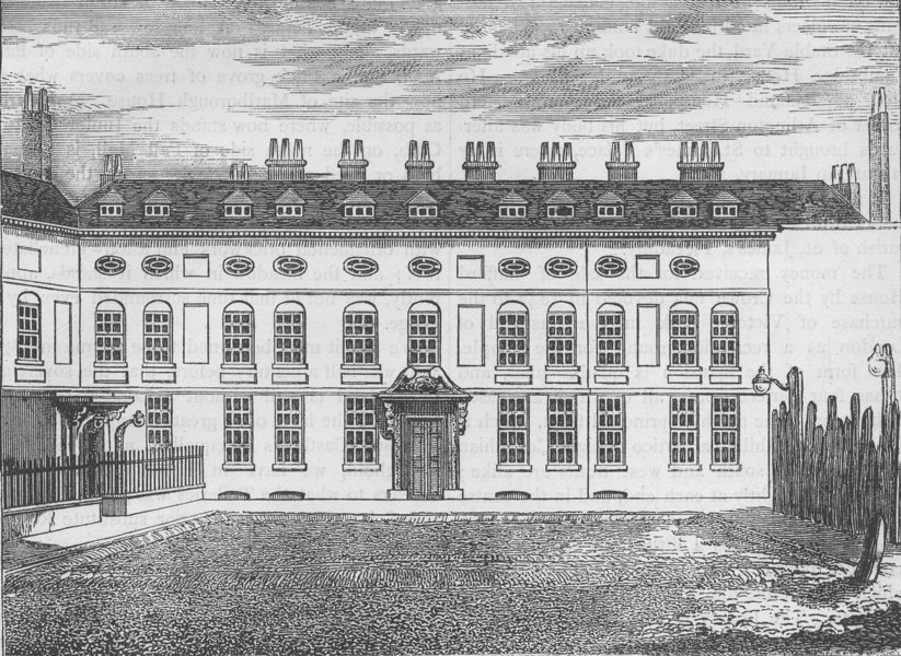 Associate Product ST.JAMES'S PALACE. Cleveland House, in 1799. London c1880 old antique print
