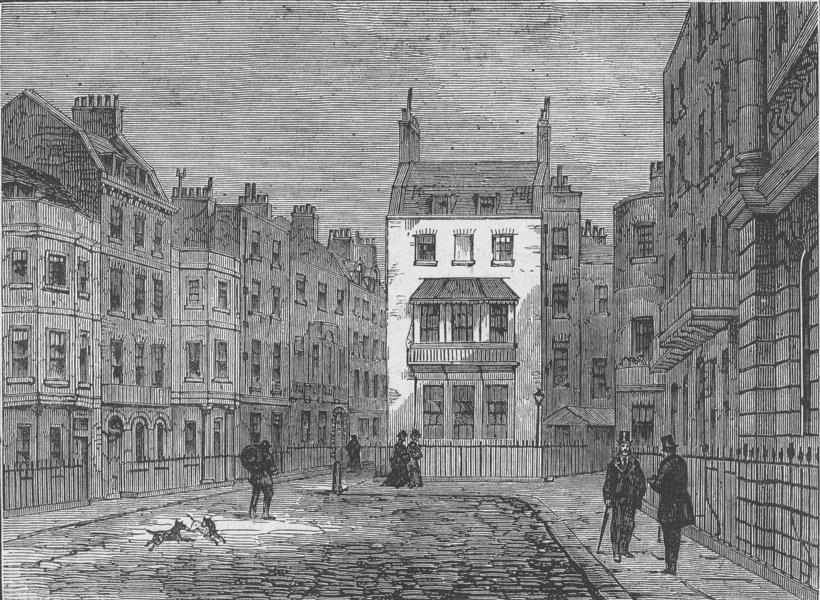 Associate Product ST.JAMES'S. St. James's Place. London c1880 old antique vintage print picture