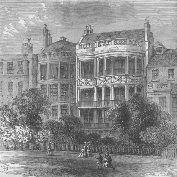 Associate Product ST.JAMES'S. Samuel Rogers' House, Green Park Front. London c1880 old print