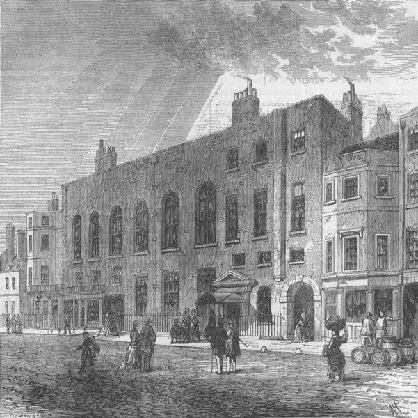 Associate Product ST.JAMES'S. Willis's rooms. London c1880 old antique vintage print picture