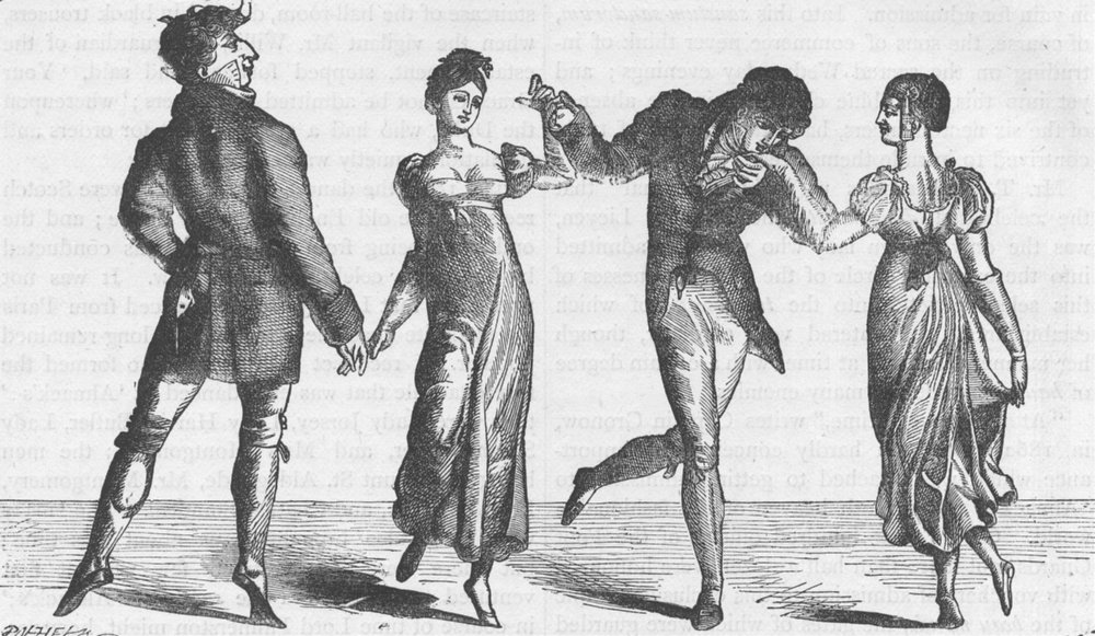 Associate Product ST.JAMES'S. The first quadrille danced at Almack's (after Gronow). London c1880