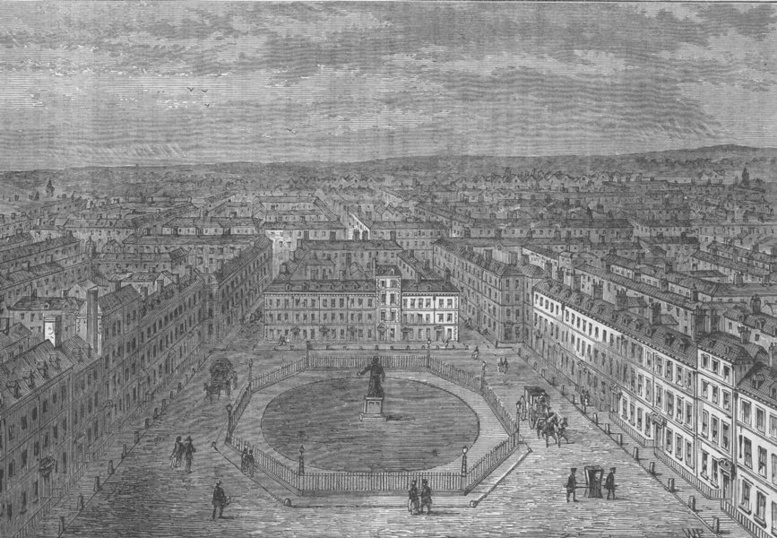 Associate Product SOHO. Golden Square in 1750. London c1880 antique vintage print picture