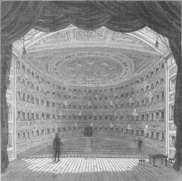 SOHO. The Pantheon Theatre. London c1880 old antique vintage print picture