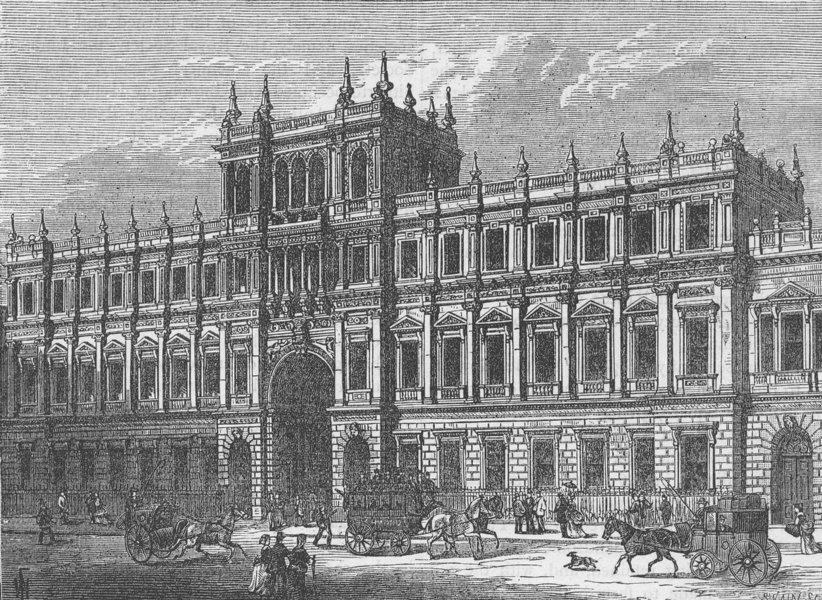 Associate Product PICCADILLY. Burlington House, 1875. London c1880 old antique print picture