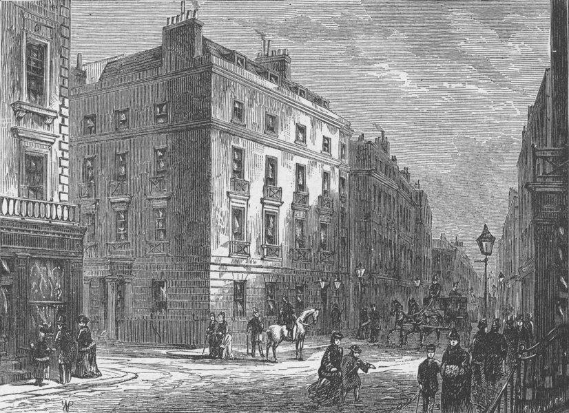 Associate Product BOND STREET. Long's Hotel. London c1880 old antique vintage print picture