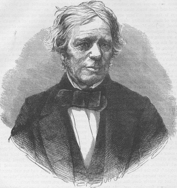 Associate Product SCIENTISTS. Professor Faraday. London c1880 old antique vintage print picture