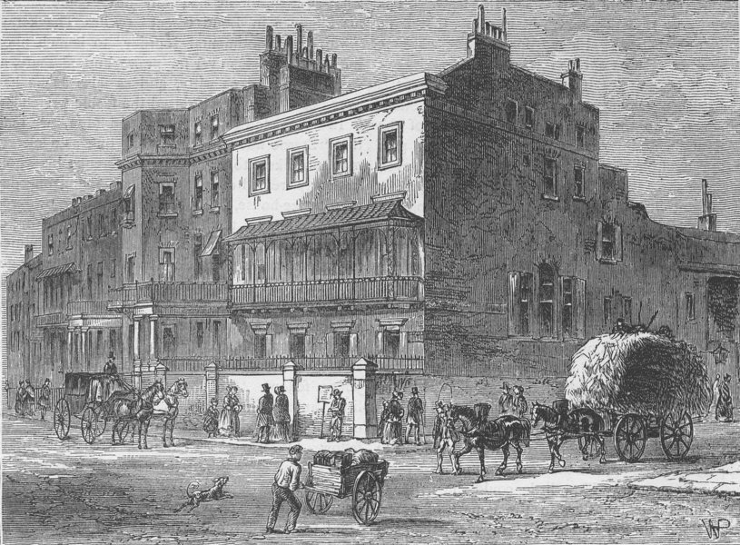 PICCADILLY. Gloucester House. London c1880 old antique vintage print picture