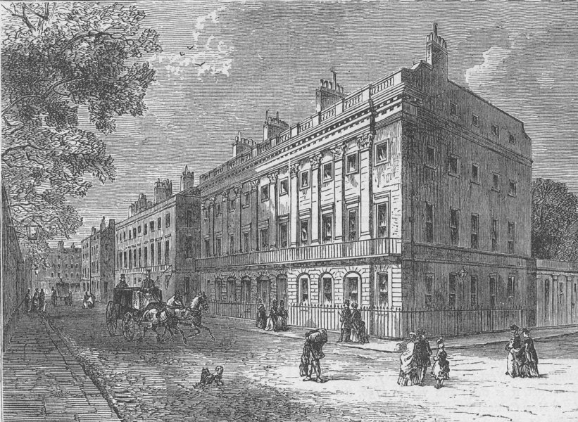 Associate Product PICCADILLY. Uxbridge House. London c1880 old antique vintage print picture
