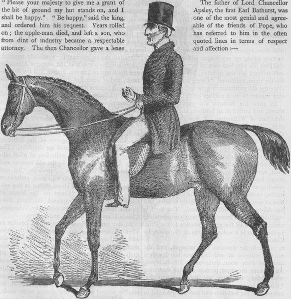 Associate Product MILITARIA. The Duke of Wellington in 1842. London c1880 old antique print
