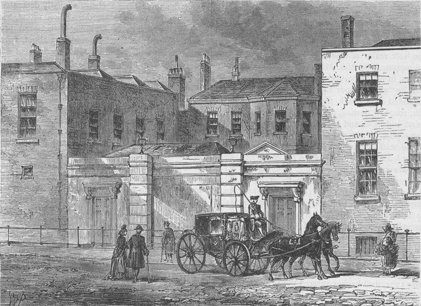 Associate Product PARK LANE. Camelford House, 1820. London c1880 old antique print picture