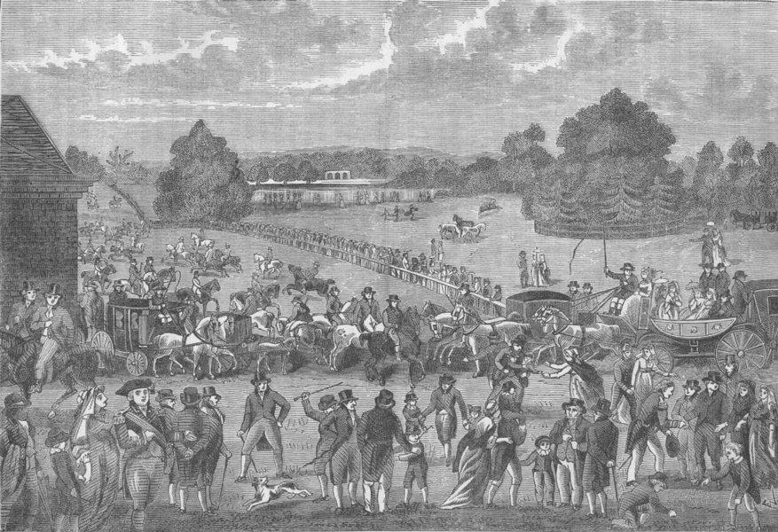 Associate Product HYDE PARK. Hyde Park on Sunday, 1804 c1880 old antique vintage print picture