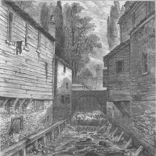 Associate Product HYDE PARK. Old outfall of the Serpentine at Knightsbridge, 1800. London c1880
