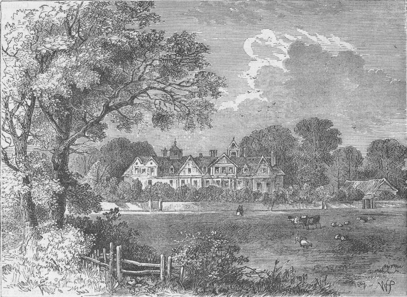 Associate Product MARYLEBONE. The old manor House, in the time of Queen Elizabeth c1880 print