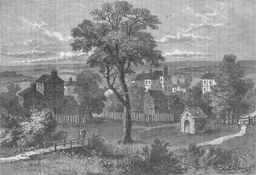 Associate Product MARYLEBONE. Marylebone, from the site of the present Wigmore Street c1880