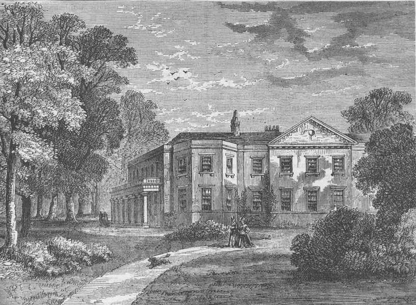 PORTLAND PLACE. Langham House in 1820. London c1880 old antique print picture