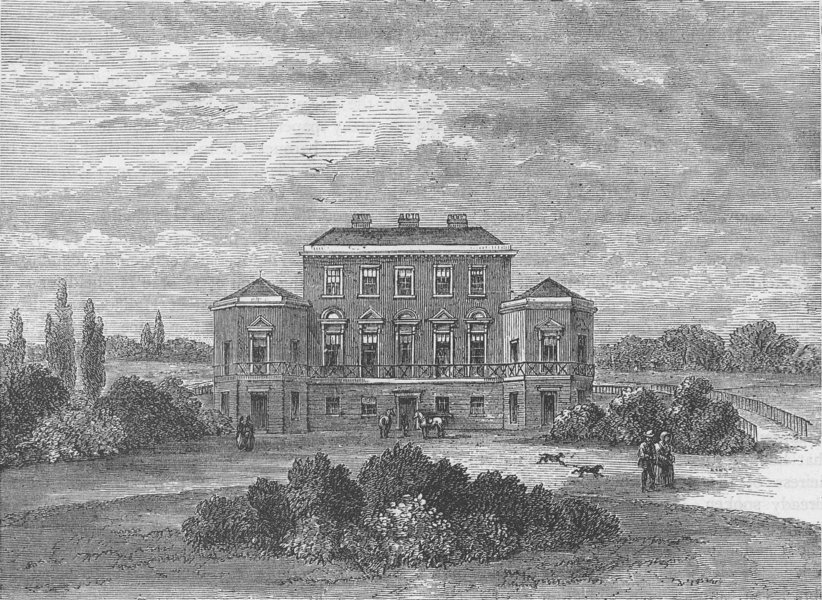 Associate Product PORTLAND PLACE. Foley House, in 1800. London c1880 old antique print picture