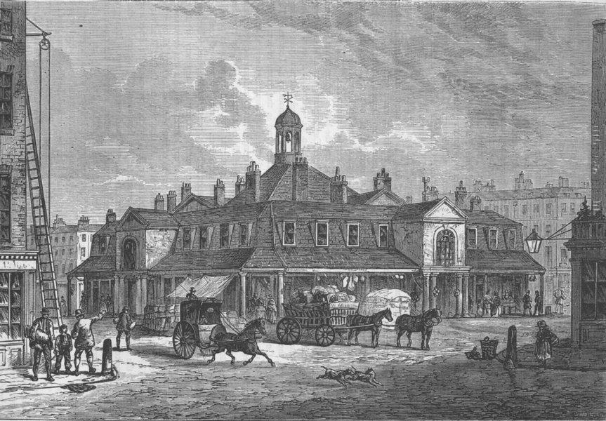 Associate Product MARKET PLACE, W1. Oxford Market. Fitzrovia. London c1880 old antique print