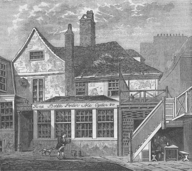 Associate Product BLOOMSBURY. The manor House of Toten Hall. London c1880 old antique print