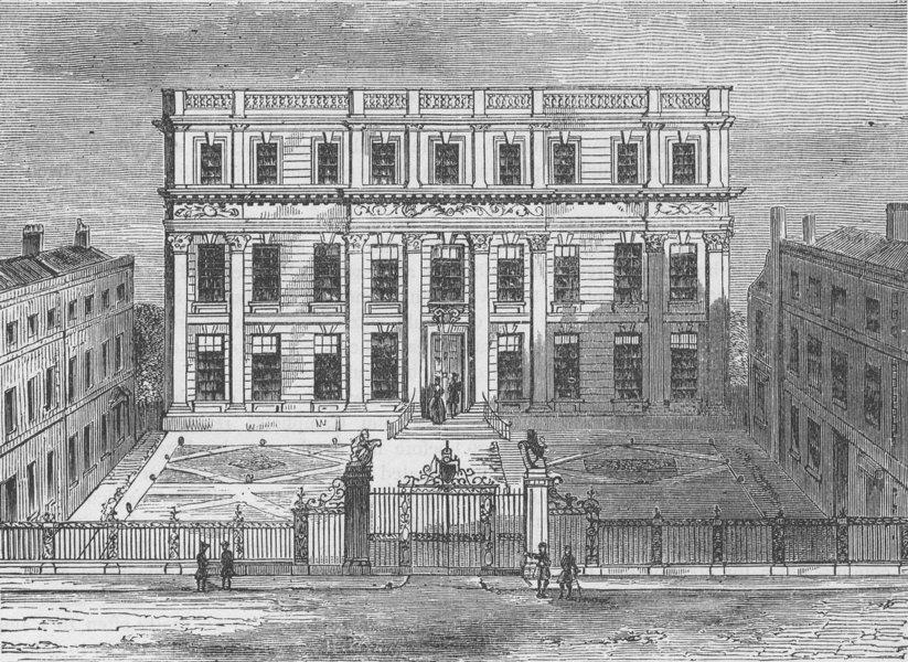 Associate Product GREAT ORMOND STREET. Powis House, 1714. Bloomsbury. London c1880 old print