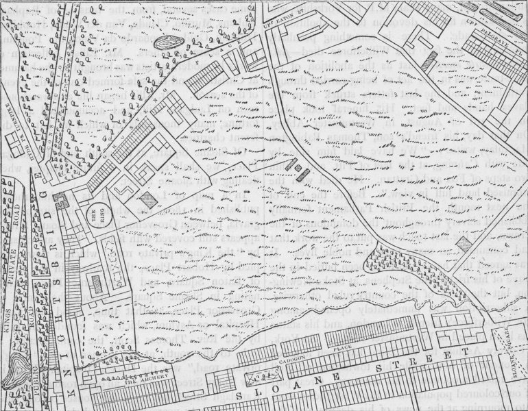 Associate Product BELGRAVIA. Map of Belgravia, 1814. London c1880 old antique plan chart