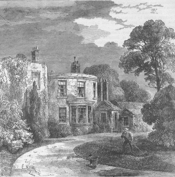 Associate Product CHELSEA. Cremorne Farm, 1829. London c1880 old antique vintage print picture
