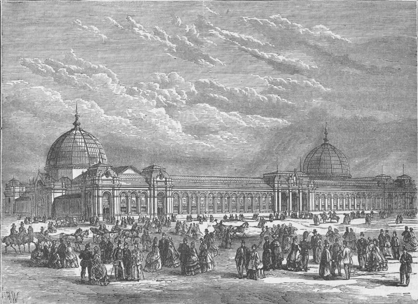 Associate Product SOUTH KENSINGTON. The International Exhibition of 1862. London c1880 old print