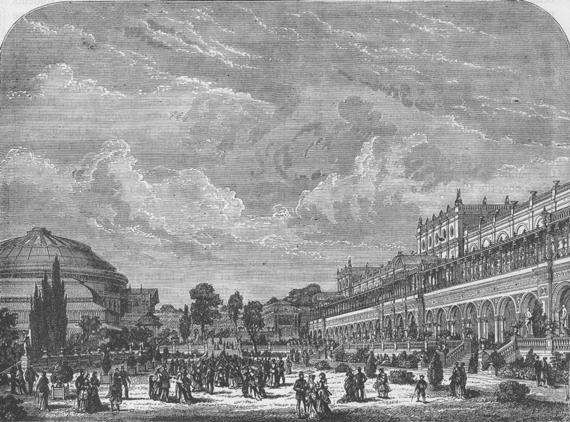 Associate Product SOUTH KENSINGTON. The Horticultural Gardens and Exhibition Building c1880