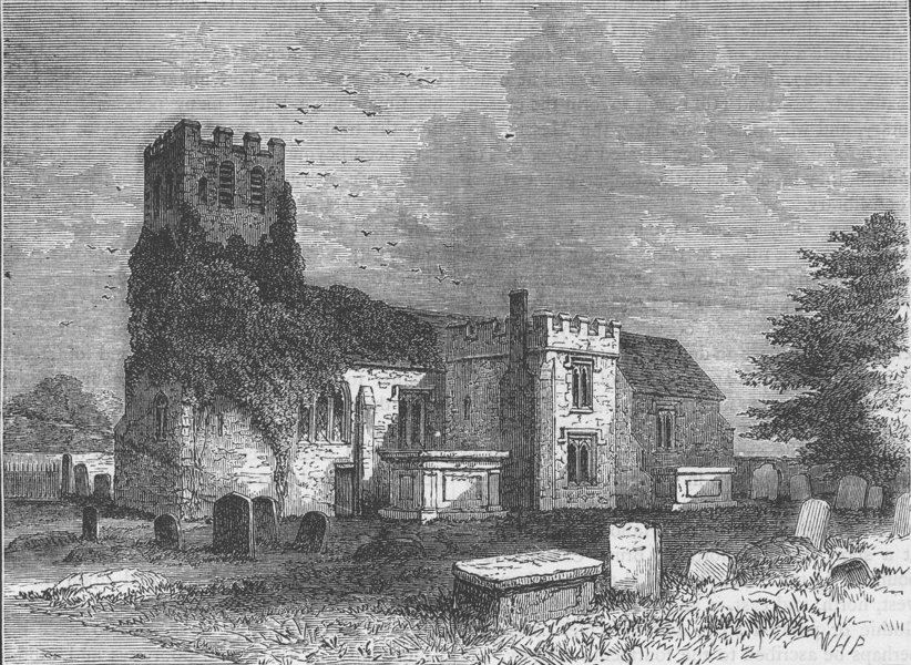 Associate Product TOTTENHAM. Tottenham Church. London c1880 old antique vintage print picture