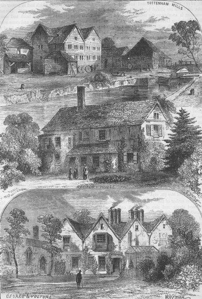 Associate Product TOTTENHAM. Views in Tottenham. London c1880 old antique vintage print picture