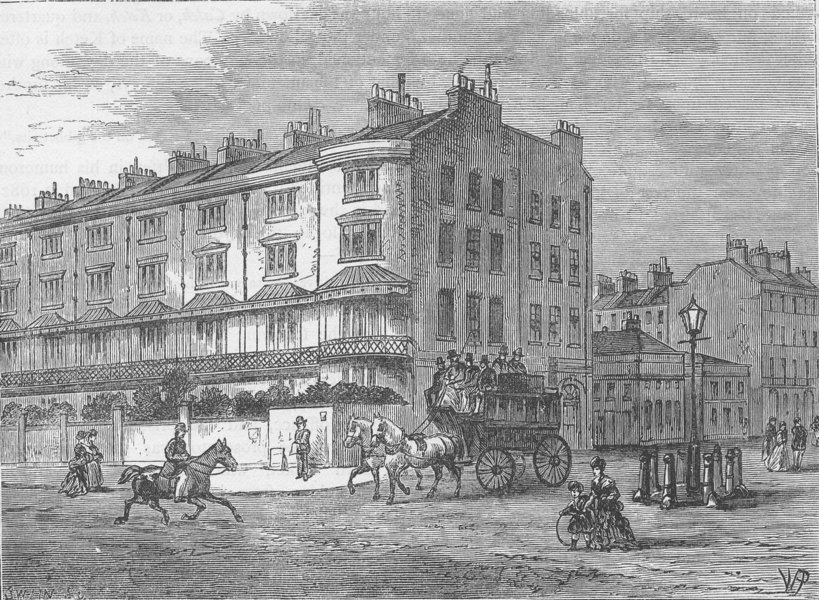 Associate Product BAYSWATER. Connaught Place. London c1880 old antique vintage print picture