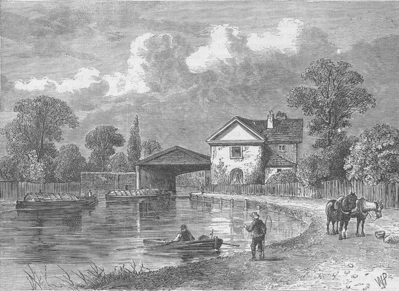 Associate Product PADDINGTON. Paddington Canal, 1820. London c1880 old antique print picture