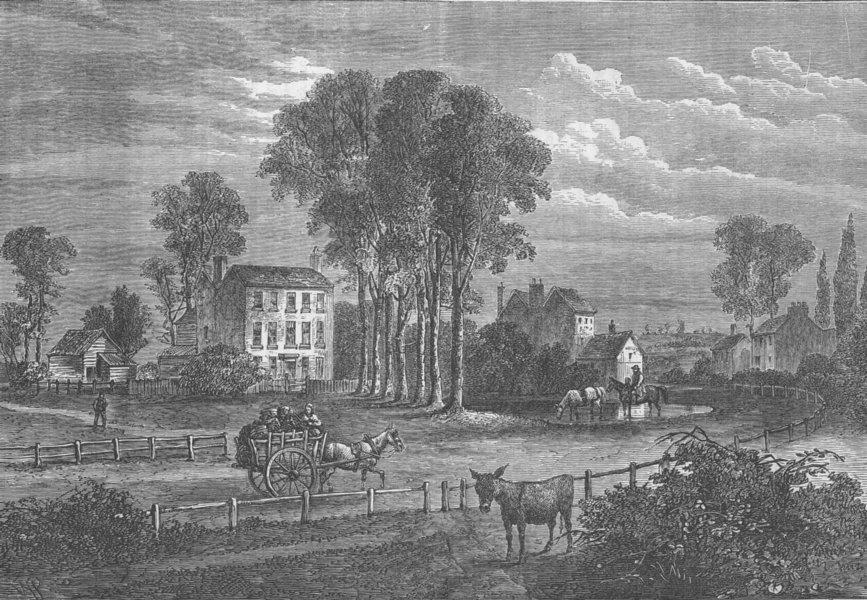 Associate Product PADDINGTON. Paddington Green in 1750. London c1880 old antique print picture