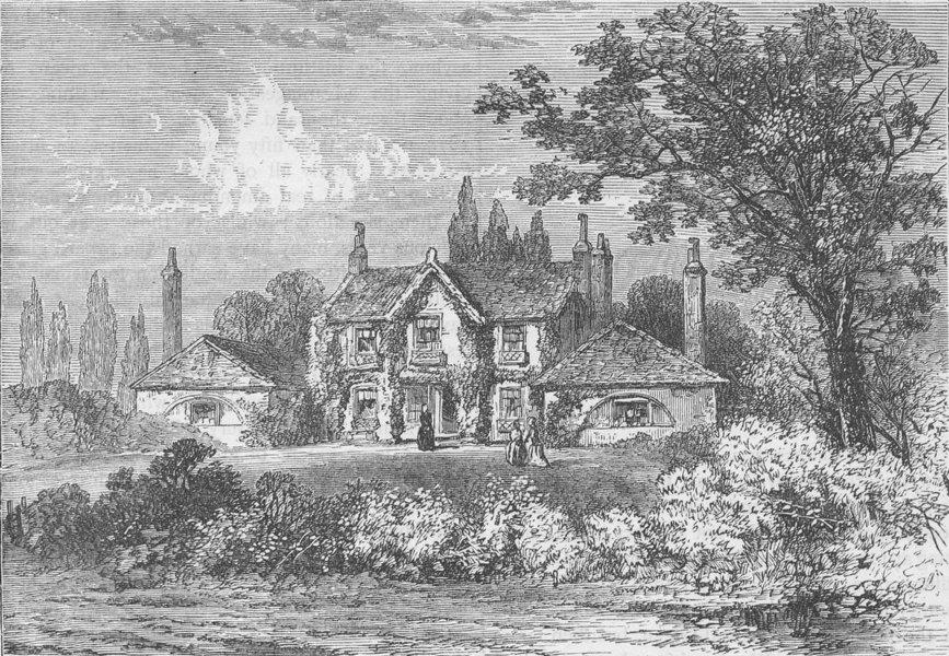 Associate Product PADDINGTON. Mrs. Siddons' House at Westbourne Green, 1800. London c1880 print