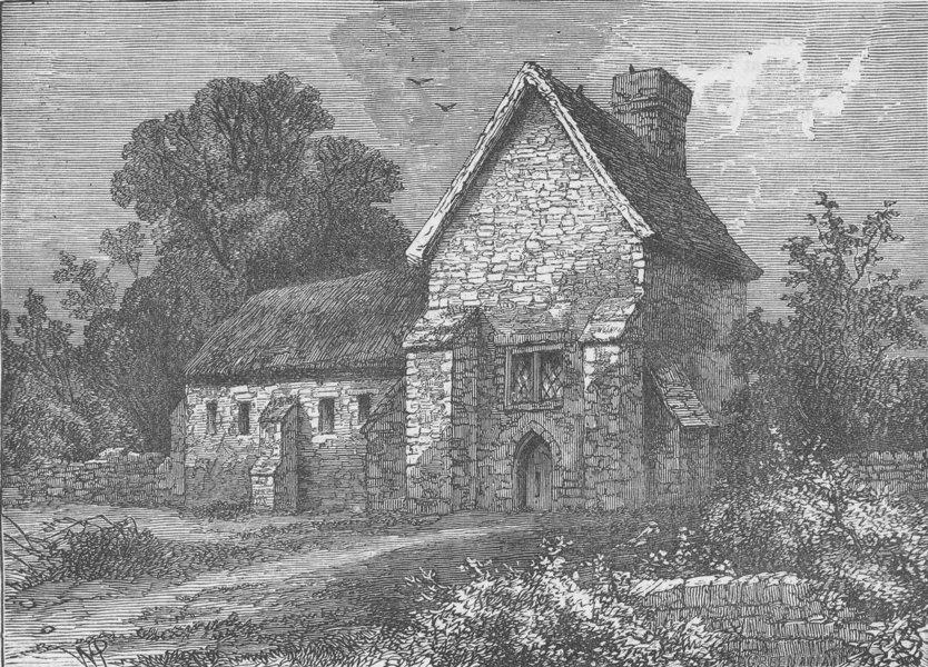 Associate Product KILBURN. The priory, Kilburn, 1750. London c1880 old antique print picture