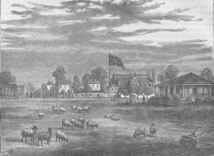 Associate Product ST.JOHN'S WOOD. Lord's cricket ground in 1837. London c1880 old antique print