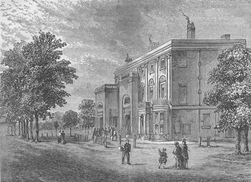 """Associate Product ST JOHN'S WOOD. The """"Eyre Arms Tavern"""" in 1820 (1 Finchley Road). London c1880"""