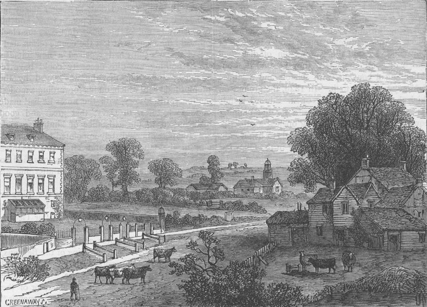 Associate Product LISSON GROVE. Lisson Green in the eighteenth century. London c1880 old print