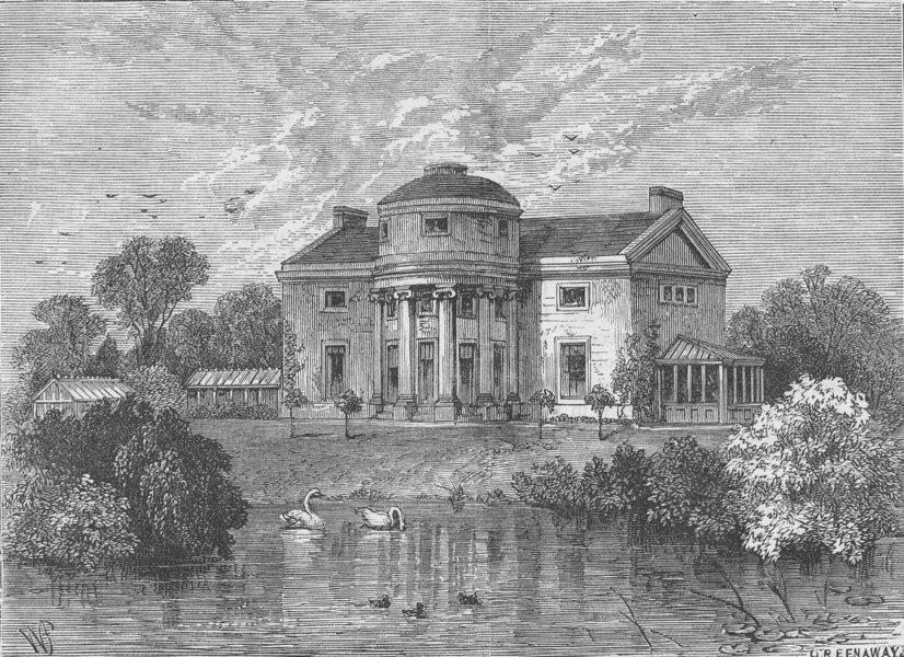 Associate Product THE REGENT'S PARK. The Holme, Regent's Park. London c1880 old antique print