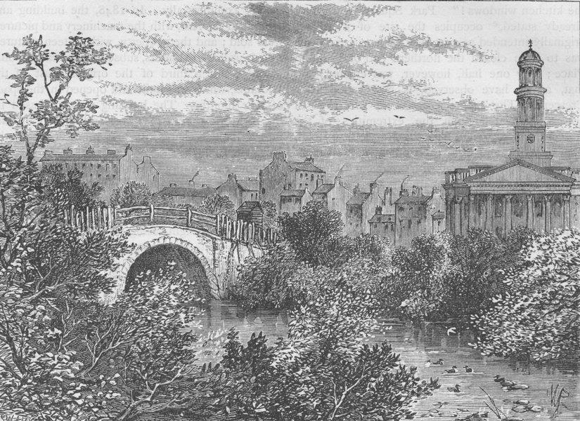 Associate Product THE REGENT'S PARK. Old bridge over the lake, Regent's Park, in 1817 c1880