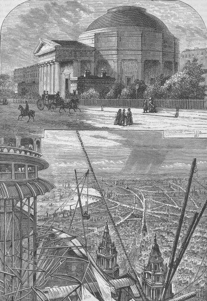 Associate Product THE REGENT'S PARK. The Colosseum in 1827. London c1880 old antique print