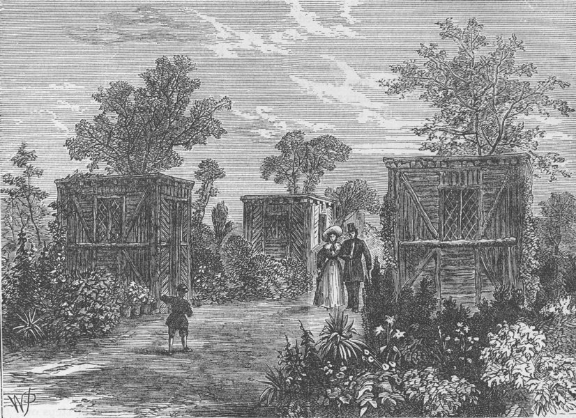 Associate Product THE REGENT'S PARK. Entrance to the Zoological Gardens in 1840. London c1880