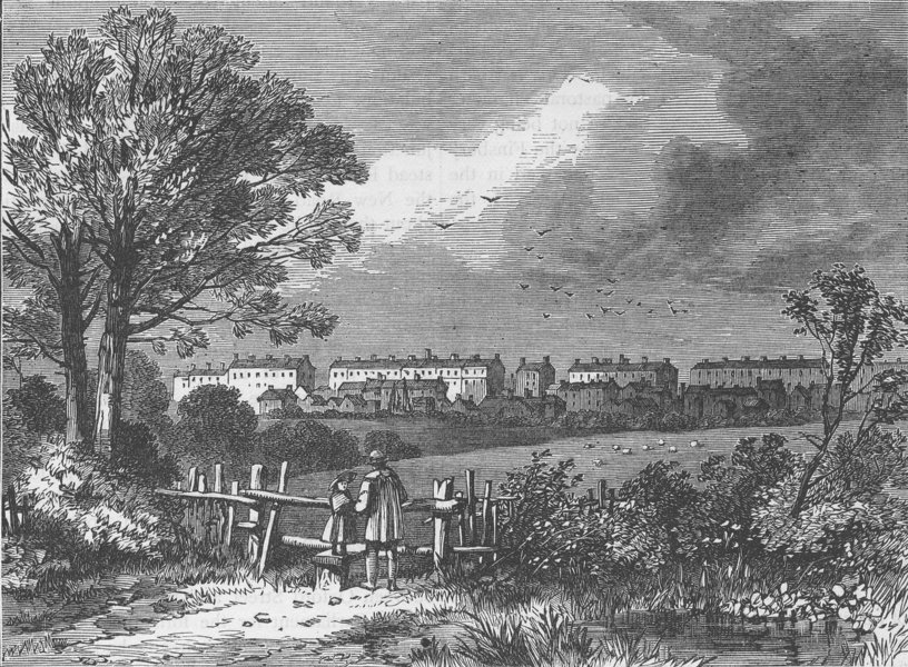 Associate Product CAMDEN TOWN. View from the Hampstead Road, Marylebone, 1780. London c1880