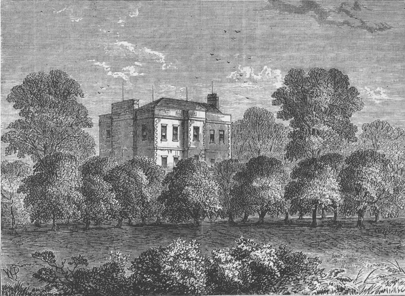 Associate Product KING'S CROSS. Councillor Agar's House, Somers Town, in 1830. London c1880