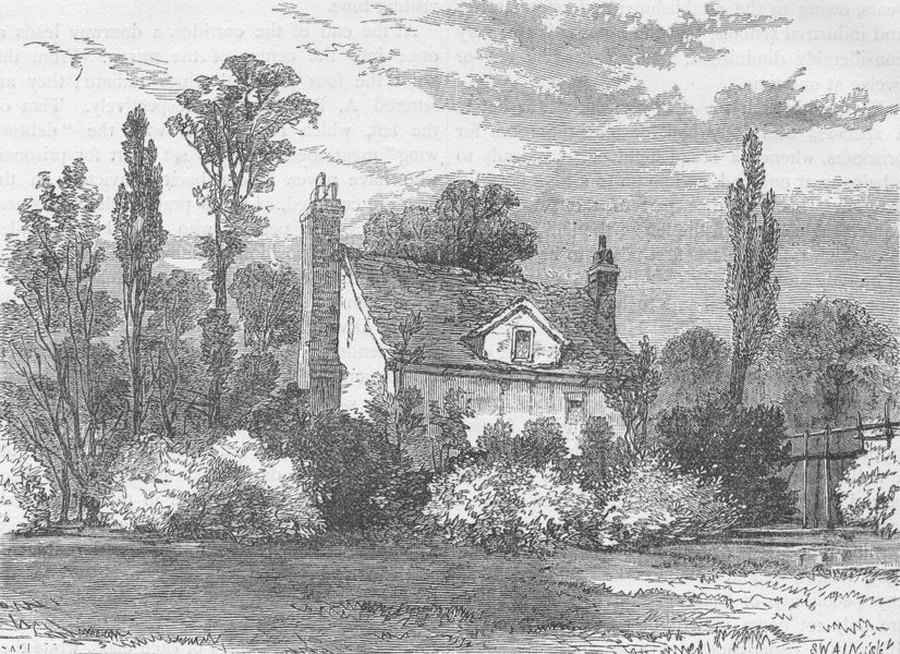 Associate Product HOLLOWAY. Claude Duval's House, in 1825. London c1880 old antique print